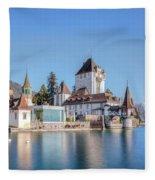 Oberhofen - Switzerland Fleece Blanket
