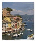Portofino In The Italian Riviera In Liguria Italy Fleece Blanket
