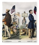 Presidential Campaign, 1864 Fleece Blanket