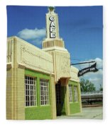 Route 66 - Conoco Tower Station Fleece Blanket