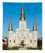 Saint Louis Cathedral Fleece Blanket