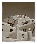 Santa Fe - Adobe Building Fleece Blanket