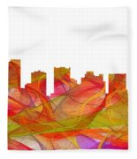 Scottsdale Arizona Skyline Fleece Blanket