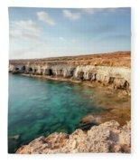 Sea Caves Ayia Napa - Cyprus Fleece Blanket