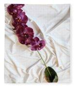 Silk Flower Fleece Blanket