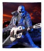 Silver Elvis Fleece Blanket