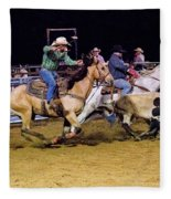 Steer Roping Fleece Blanket