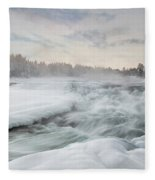 Storforsen - Sweden Fleece Blanket