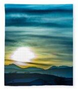 Sunrise Over Colorado Rocky Mountains Fleece Blanket