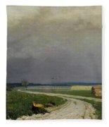 The Approaching Storm Fleece Blanket