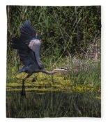 The Great Blue Heron Fleece Blanket