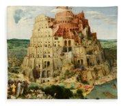The Tower Of Babel  Fleece Blanket
