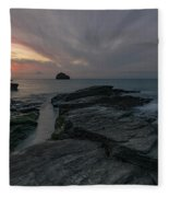 Trebarwith Strand - Cornwall Fleece Blanket