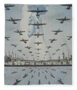 World War II Advertisement Fleece Blanket