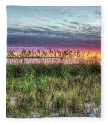 Yorktown Beach At Sunrise Fleece Blanket