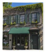 61 Queen Street In Charleston Fleece Blanket