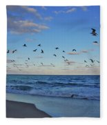 65- Black Skimmers Fleece Blanket