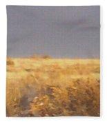 Snowy Desert Landscape Fleece Blanket