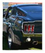 67 Mustang Fastback Fleece Blanket