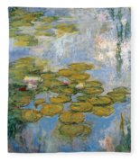 Water Lilies Fleece Blanket