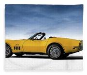 '69 Corvette Sting Ray Fleece Blanket