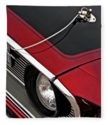69 Mustang Hood Pin And Grille Fleece Blanket