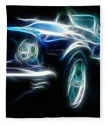 69 Mustang Mach 1 Fantasy Car Fleece Blanket