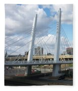 6th Street Bridge Fleece Blanket