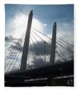 6th Street Bridge Backlit Fleece Blanket