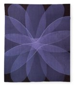 Abstract Flower  Fleece Blanket