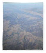 An Aerial View Of Ohio Fleece Blanket