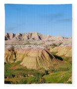 Badlands National Park South Dakota Fleece Blanket