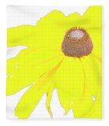 Blackeyed Susan Flower Fleece Blanket