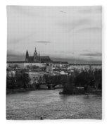 By The Vltava. Prague Spring 2017 Fleece Blanket