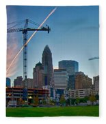 Charlotte North Carolina Early  Morning Sunrise Fleece Blanket