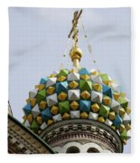 Church Of The Savior On Spilled Blood  Fleece Blanket
