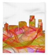 Corpus Christi Texas Skyline Fleece Blanket