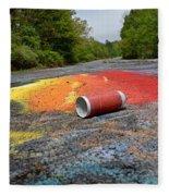 Discarded Spray Paint Can Fleece Blanket