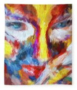 Face Paint Fleece Blanket