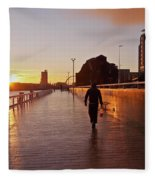 Glasgow, Scotland Fleece Blanket
