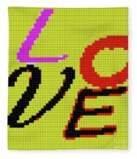 Graphic Display Of The Word Love  Fleece Blanket