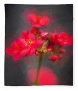 Jatropha Blossoms Painted Fleece Blanket