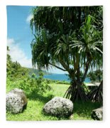 Keanae Maui Hawaii Fleece Blanket