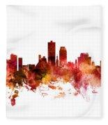 Knoxville Tennessee Skyline Fleece Blanket