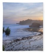 Kukup Beach - Java Fleece Blanket