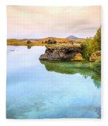 Lake Myvatn Fleece Blanket