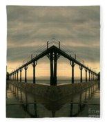 Lighthouse Reflections Fleece Blanket
