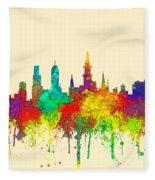 New Orleans Louisiana Skyline Fleece Blanket