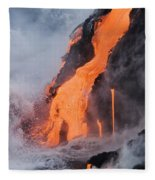 Pahoehoe Lava Flow Fleece Blanket