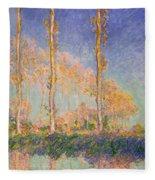 Poplars Fleece Blanket